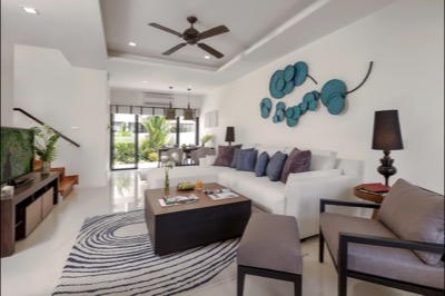 TOWNHOMES - LIVING & DINING ROOM